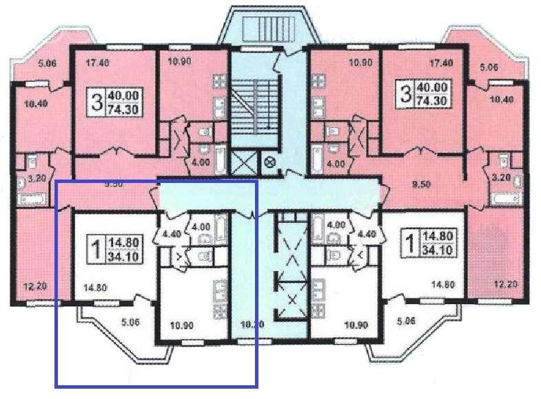 Типовая перепланировка многоэтажных домов серии пд-4.